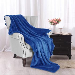 Modrá deka z mikrovlákna 200x220cm