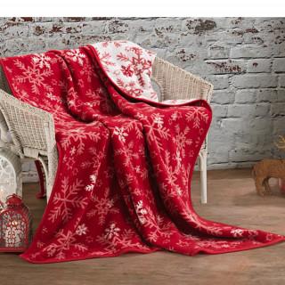 Vánoční deka s vločkami